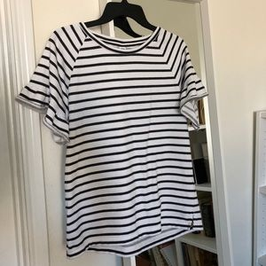 Old Navy White and Black stripes Top